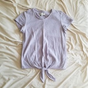 Madewell Tie-Front Lilac Top